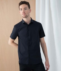 Henbury Short Sleeve Stretch Poplin Shirt image