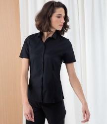 Henbury Ladies Short Sleeve Stretch Poplin Shirt image