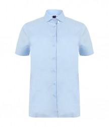 Image 3 of Henbury Ladies Short Sleeve Stretch Poplin Shirt