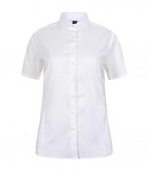 Image 4 of Henbury Ladies Short Sleeve Stretch Poplin Shirt