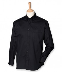 Henbury Long Sleeve Pinpoint Oxford Shirt image