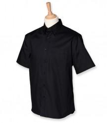 Henbury Short Sleeve Pinpoint Oxford Shirt image