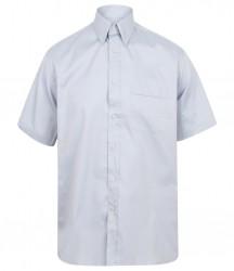 Image 2 of Henbury Short Sleeve Pinpoint Oxford Shirt
