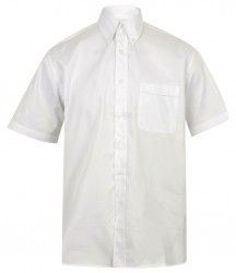 Image 3 of Henbury Short Sleeve Pinpoint Oxford Shirt