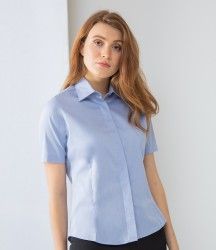 Henbury Ladies Short Sleeve Pinpoint Oxford Shirt image