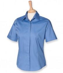 Image 3 of Henbury Ladies Short Sleeve Pinpoint Oxford Shirt
