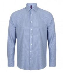 Image 2 of Henbury Gingham Long Sleeve Shirt