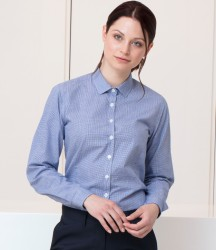 Henbury Ladies Gingham Long Sleeve Shirt image