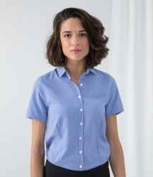 Henbury Ladies Gingham Short Sleeve Shirt image