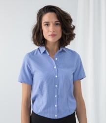 Henbury Ladies Gingham Short Sleeve Shirt image