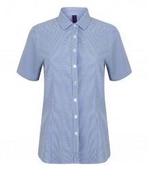Image 2 of Henbury Ladies Gingham Short Sleeve Shirt