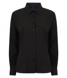 Henbury Ladies Long Sleeve Wicking Shirt image
