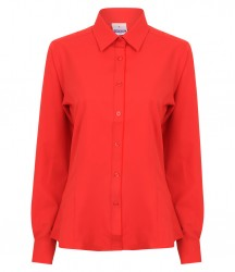 Image 3 of Henbury Ladies Long Sleeve Wicking Shirt