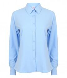 Image 4 of Henbury Ladies Long Sleeve Wicking Shirt