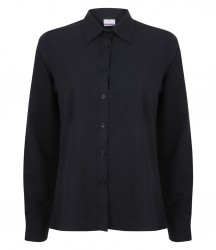 Image 5 of Henbury Ladies Long Sleeve Wicking Shirt