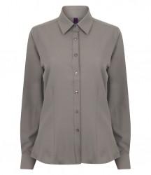 Image 8 of Henbury Ladies Long Sleeve Wicking Shirt