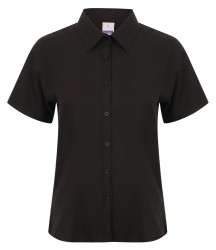 Henbury Ladies Short Sleeve Wicking Shirt image