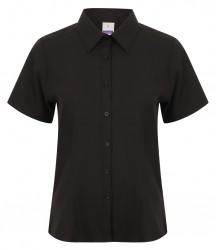 Henbury Ladies Short Sleeve Wicking Shirt image