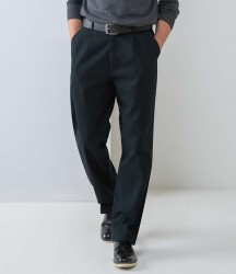 Henbury Front Pleat Chino Trousers image