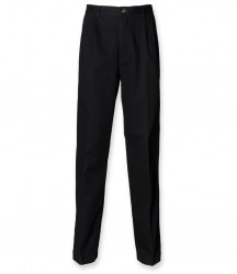 Image 2 of Henbury Front Pleat Chino Trousers