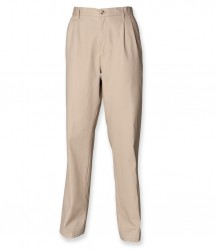 Image 4 of Henbury Front Pleat Chino Trousers