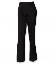 Henbury Ladies Flat Fronted Chino Trousers image