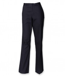 Image 3 of Henbury Ladies Flat Fronted Chino Trousers