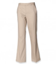 Image 4 of Henbury Ladies Flat Fronted Chino Trousers