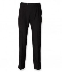 Henbury Single Pleat Polyester Trousers image