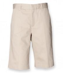 Image 3 of Henbury Ladies Flat Fronted Chino Shorts
