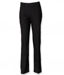 Henbury Ladies Flat Front Bootleg Trousers image