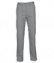 Image 4 of Henbury 65/35 Flat Fronted Chino Trousers