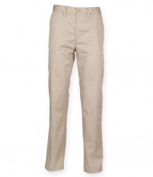 Image 5 of Henbury 65/35 Flat Fronted Chino Trousers