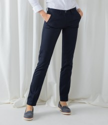 Henbury Ladies 65/35 Flat Fronted Chino Trousers image