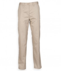 Image 5 of Henbury Ladies 65/35 Flat Fronted Chino Trousers