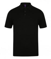 Henbury Knitted Short Sleeve Polo Shirt image