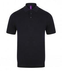 Image 4 of Henbury Knitted Short Sleeve Polo Shirt