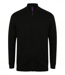 Henbury Unisex Knitted Bomber Jacket image
