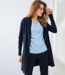 Henbury Ladies Long Line Open Cardigan image