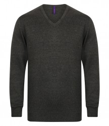 Image 4 of Henbury Lightweight Cotton Acrylic V Neck Sweater