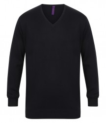 Image 5 of Henbury Lightweight Cotton Acrylic V Neck Sweater