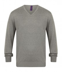 Image 8 of Henbury Lightweight Cotton Acrylic V Neck Sweater