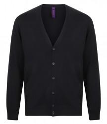 Image 4 of Henbury Lightweight Cotton Acrylic V Neck Cardigan