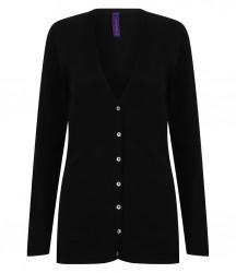 Image 2 of Henbury Ladies Cotton Acrylic V Neck Cardigan