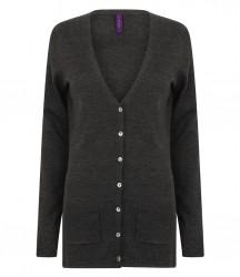 Image 4 of Henbury Ladies Cotton Acrylic V Neck Cardigan