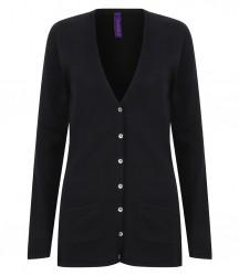 Image 5 of Henbury Ladies Cotton Acrylic V Neck Cardigan