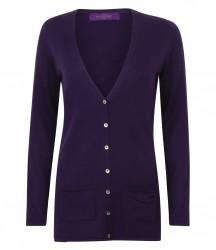 Image 6 of Henbury Ladies Cotton Acrylic V Neck Cardigan