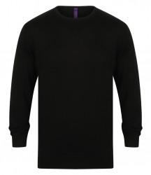 Image 2 of Henbury Lightweight Cotton Acrylic Crew Neck Sweater