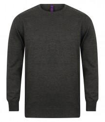 Henbury Lightweight Cotton Acrylic Crew Neck Sweater image