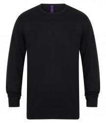 Image 4 of Henbury Lightweight Cotton Acrylic Crew Neck Sweater